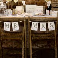 With Love Design Mr & Mrs Chair Bunting